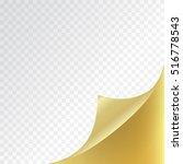 golden page curl corner on... | Shutterstock .eps vector #516778543