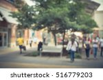 blurred image of people out... | Shutterstock . vector #516779203
