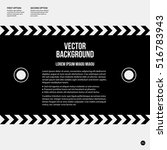 monochrome text background in... | Shutterstock .eps vector #516783943