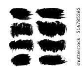 set of brush strokes | Shutterstock .eps vector #516785263