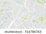urban city map of brussels ... | Shutterstock .eps vector #516786763