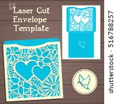 lasercut vector wedding... | Shutterstock .eps vector #516788257