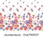 Seamless Watercolor Flower