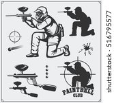 Set Of Paintball Club Labels ...
