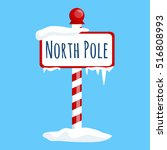 christmas icon north pole sign... | Shutterstock .eps vector #516808993