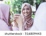 portrait of pretty asian muslim ... | Shutterstock . vector #516809443