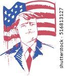 vector portrait of united... | Shutterstock .eps vector #516813127