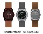 luxury silver watches for man... | Shutterstock .eps vector #516826333