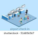 isometric flat 3d concept... | Shutterstock .eps vector #516856567
