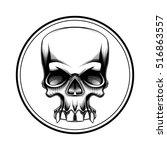human skull halloween horror... | Shutterstock .eps vector #516863557