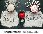 sugar and salt brings harm to... | Shutterstock . vector #516863887