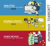 analytics information and... | Shutterstock .eps vector #516882877