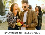 portrait of group of friends...   Shutterstock . vector #516897073