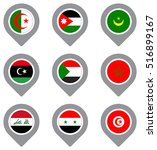 set of flag map point isolated... | Shutterstock .eps vector #516899167