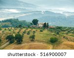 typical italian landscape in... | Shutterstock . vector #516900007