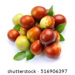 jujube fruits close up on white.... | Shutterstock . vector #516906397