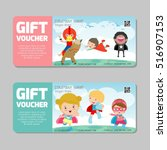 gift voucher template with... | Shutterstock .eps vector #516907153
