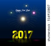 colored happy new year... | Shutterstock .eps vector #516910807