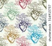 anatomical human heart from... | Shutterstock .eps vector #516915757