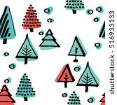 scandinavian seamless pattern... | Shutterstock .eps vector #516933133