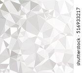 gray white polygonal background ... | Shutterstock .eps vector #516933217