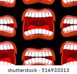 Yells Lips Seamless Pattern....