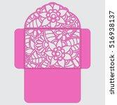 lasercut vector wedding... | Shutterstock .eps vector #516938137