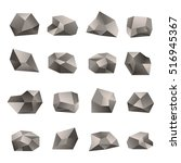 set of triangular stones... | Shutterstock .eps vector #516945367