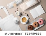 Coffee Cup With Donuts ...