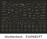 vintage decor elements and... | Shutterstock .eps vector #516968197