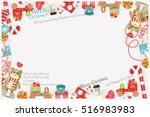 merry christmas and new year... | Shutterstock .eps vector #516983983