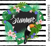 bright summer template with... | Shutterstock .eps vector #516988993
