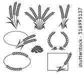 rice set. vector | Shutterstock .eps vector #516995137