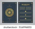 christmas greeting card design. ... | Shutterstock .eps vector #516996853