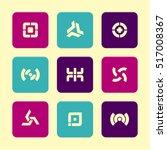 vector flat icons set  ...   Shutterstock .eps vector #517008367