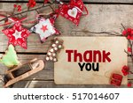 thank you christmas holiday... | Shutterstock . vector #517014607
