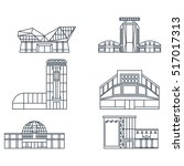 set of lines icons of modern...   Shutterstock .eps vector #517017313