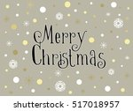 merry christmas card with... | Shutterstock .eps vector #517018957
