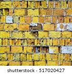 Yellow Brick Wall Texture. Pop...