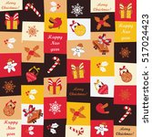 christmas and new year seamless ...   Shutterstock .eps vector #517024423