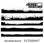 hand drawn edges pattern... | Shutterstock .eps vector #517030447