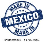 made in mexico. stamp. | Shutterstock .eps vector #517034053