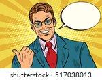 smiling businessman showing big ... | Shutterstock .eps vector #517038013