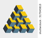 medium penrose triangle... | Shutterstock .eps vector #517045813