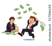 businessman trying to catch...   Shutterstock .eps vector #517046143