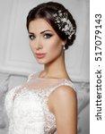 fashion bride in gorgeous... | Shutterstock . vector #517079143