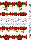 set of n seamless christmas... | Shutterstock .eps vector #517081063