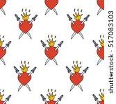 seamless doodle pattern. sacred ... | Shutterstock .eps vector #517083103