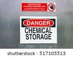danger warning sign for... | Shutterstock . vector #517105513
