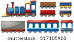 train and carraige carts on... | Shutterstock .eps vector #517105903
